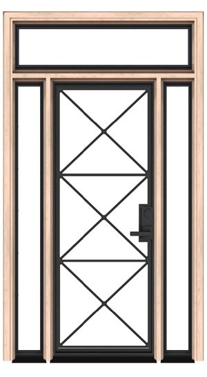 Noble Exterior Door With Sidelights And Transom
