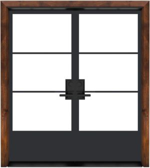 Traditional French Exterior Double Door
