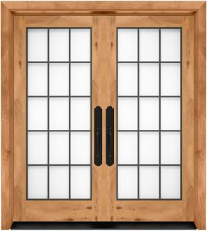 Farmhouse French Full Glass Exterior Double Door