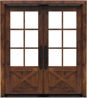 Cross Saw Double Front Door