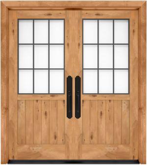 Farmhouse French Half Exterior Double Door