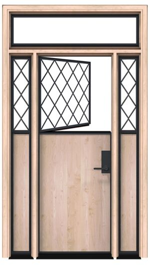 Bridge Dutch Door With Sidelight