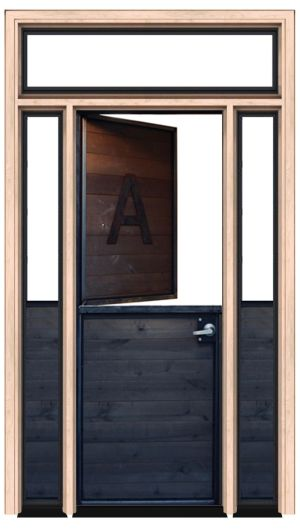 Modern Dutch Door With Sidelight