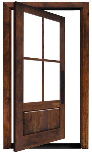 Rustic Ranch Exterior Pivot Door