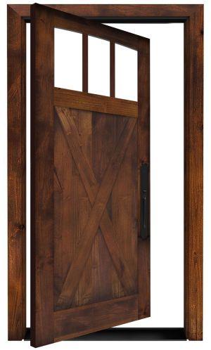 Wind Rivers Exterior Pivot Door