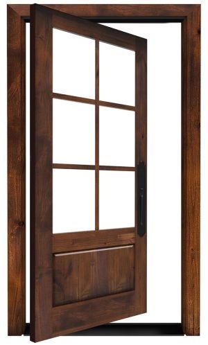 Boat House Exterior Pivot Door