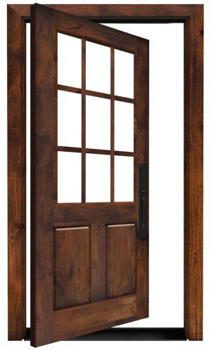 Lake House Exterior Pivot Door