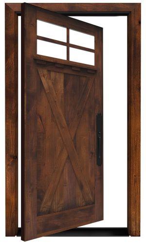 Hobble Creek Exterior Pivot Door