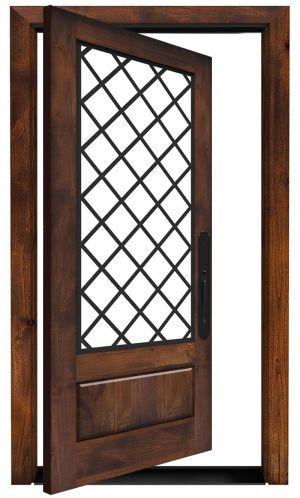 Cathedral Exterior Pivot Door