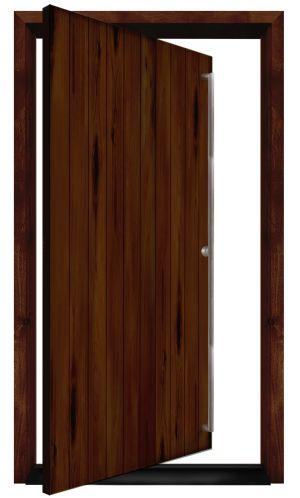 Hillside Exterior Pivot Door