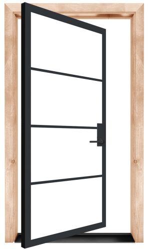 Modern Cottage Exterior Pivot Door