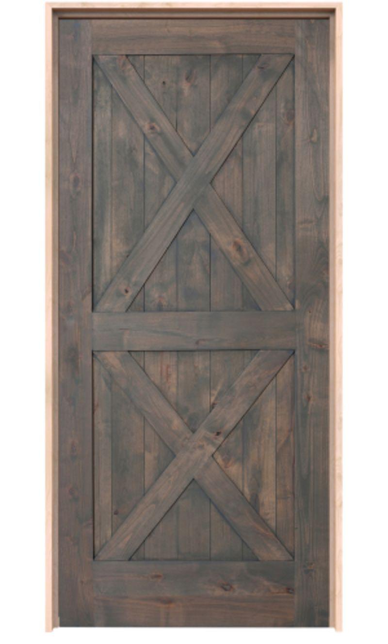 Double X Exterior Door