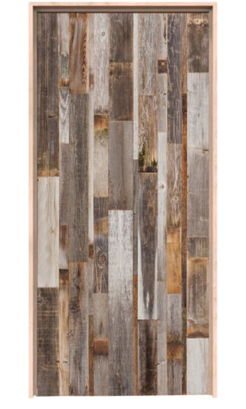 Vertical Barn Wood Exterior Door