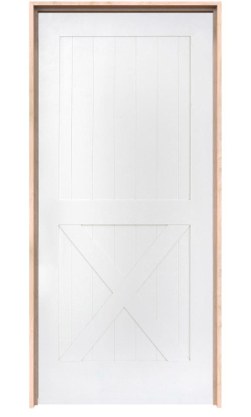 Half X Exterior Door