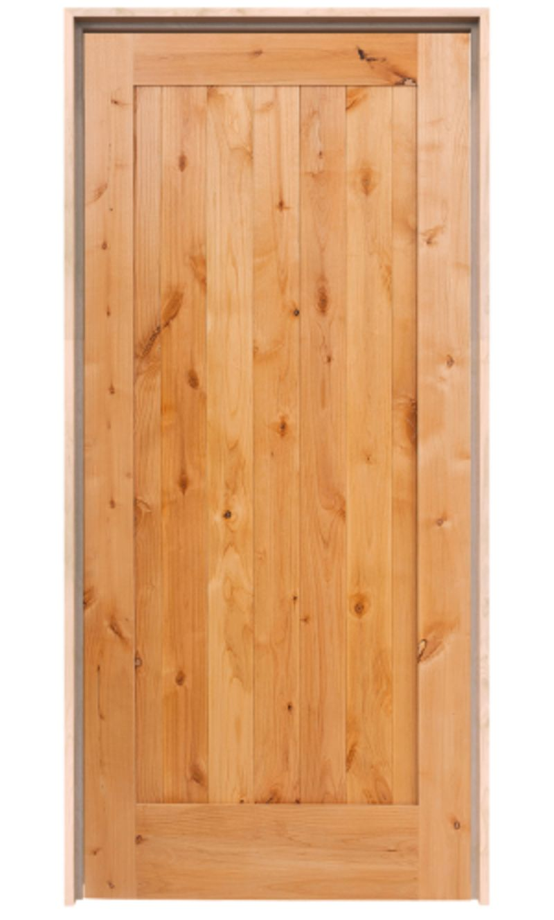 Vertical Lewiston Exterior Door