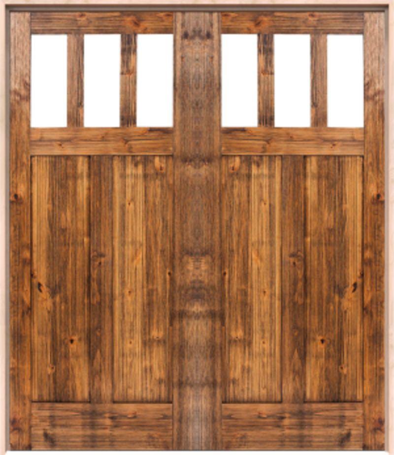 Craftsman Exterior Double Door
