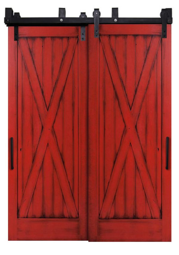Full X Bypassing Barn Doors