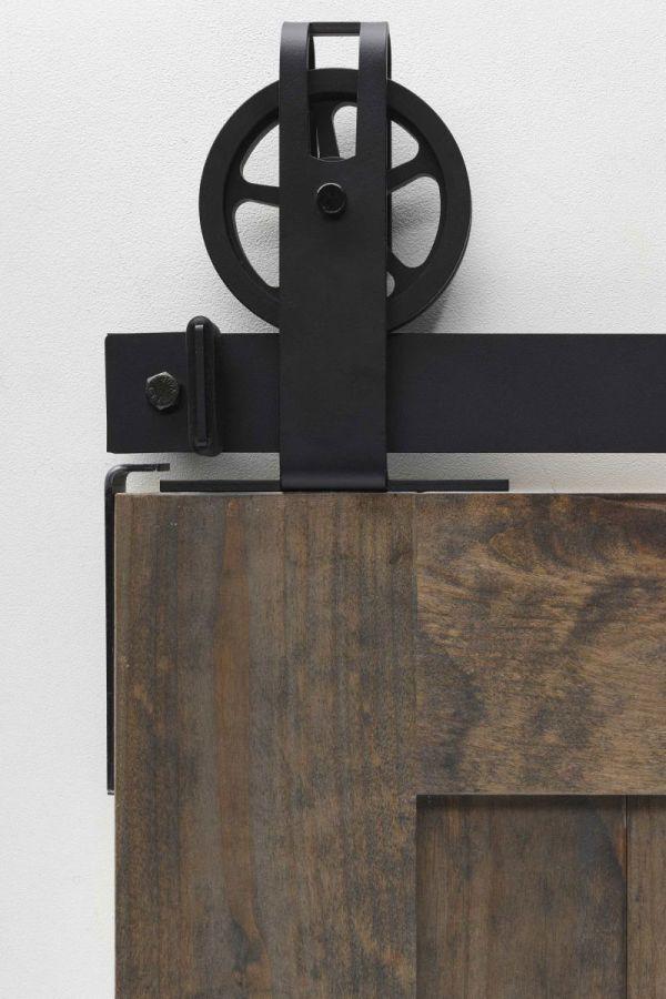 Top Spoked Garrick Barn Door Hardware - Big Wheel