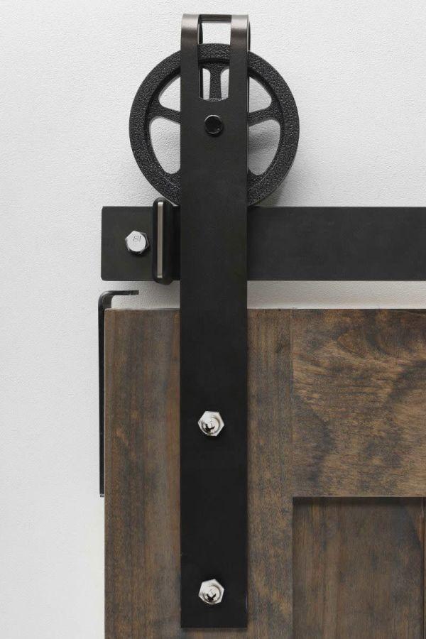 Garrick Spoked Barn Door Hardware - Big Wheel