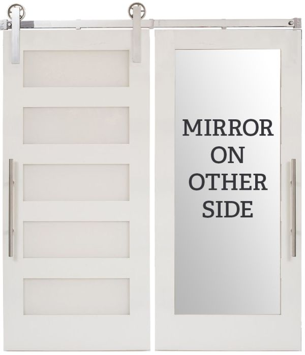 5 Panel Mirror Barn Door