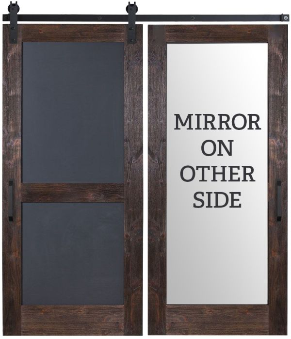 Chalkboard Mirror Barn Door