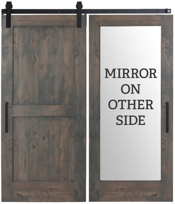 Two Panel Mirror Barn Door