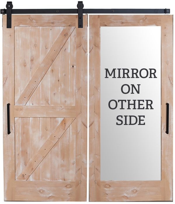 Dutch Z Mirror Barn Door