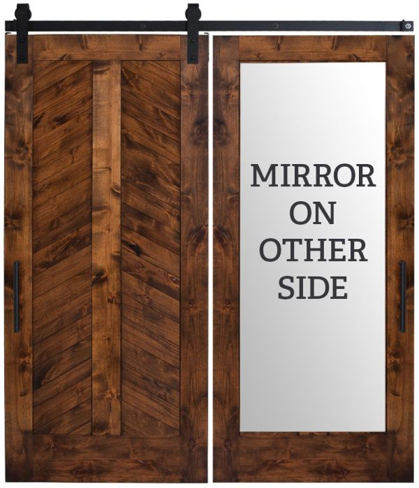 Heartland Chevron Mirror Barn Door
