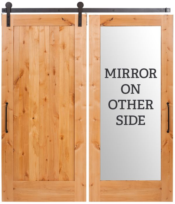 Lewiston Vertical Mirror Barn Door