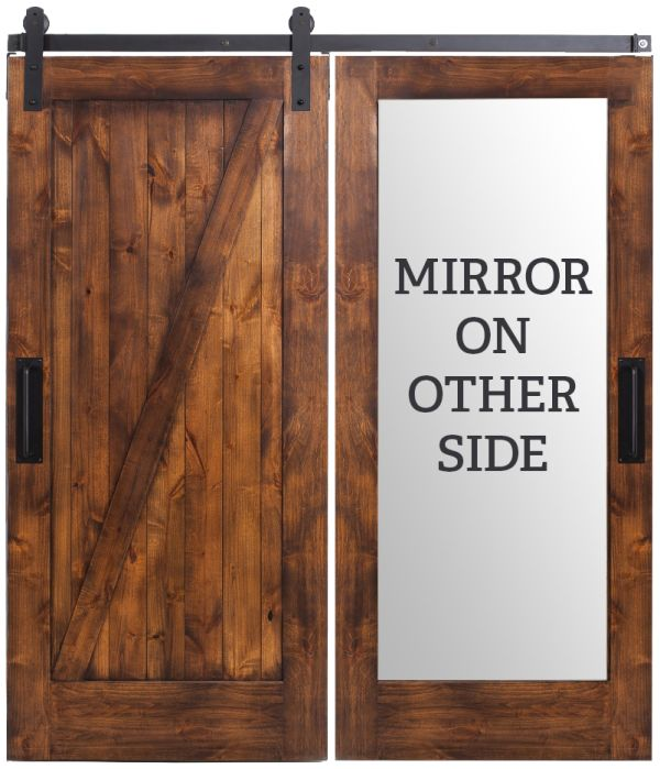 Z Mirror Barn Door