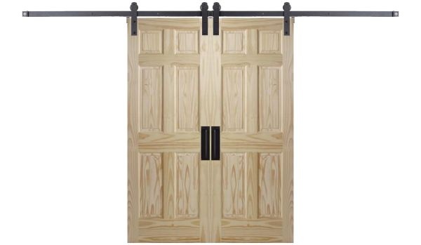 Six Panel Colonial Double Barn Door