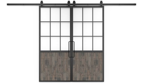Mountain French Half Double Barn Door