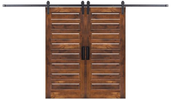 Eight Panel Double Barn Door
