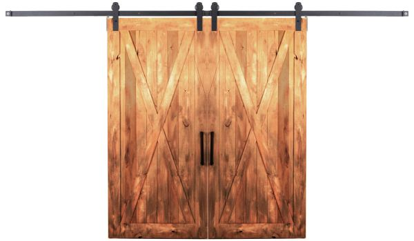 Outdoor Rated Double Barn Door