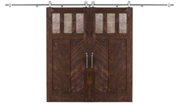 Chevron Double Barn Door