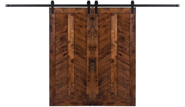 Heartland Chevron Double Barn Door