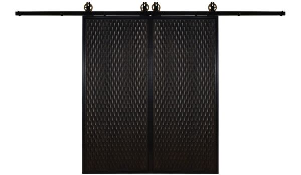 Scallop Double Barn Door