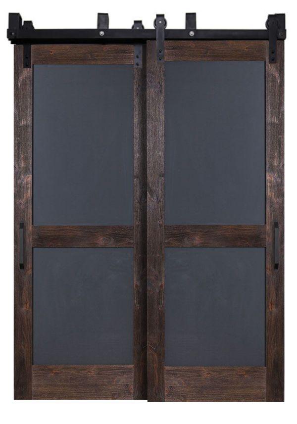 Chalkboard Bypassing Barn Doors
