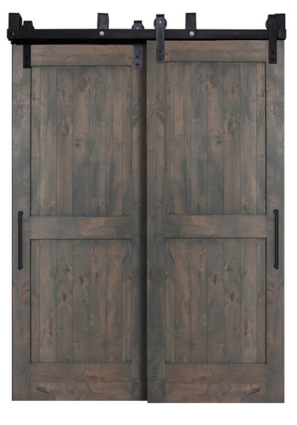 Two Panel Bypassing Barn Doors