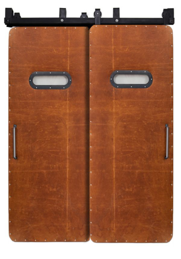 Leather Modern Range Bypassing Barn Doors
