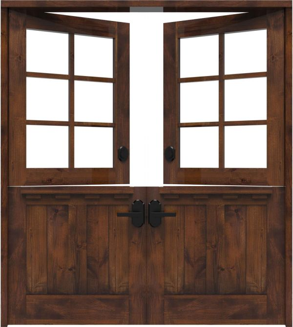 Dairy Dutch Double Front Door With Shelf