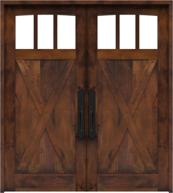 Wind Rivers Double Front Door