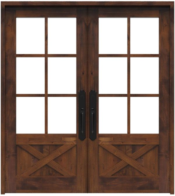 Cross Saw Double Front Door
