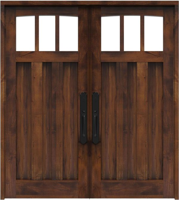 Woodsman Double Front Door