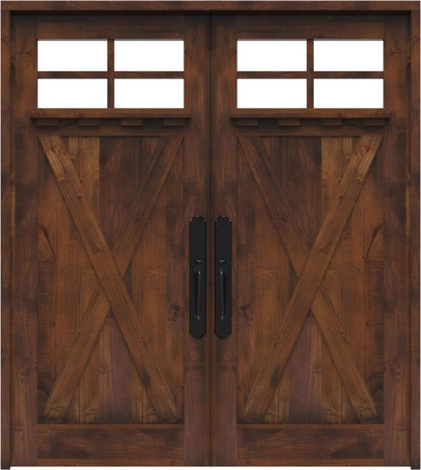 Hobble Creek Double Front Door With Shelf