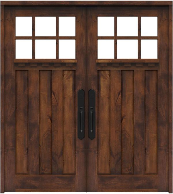 Rocky Point Double Front Door With Shelf