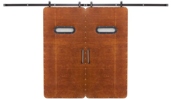 Leather Modern Double Barn Door