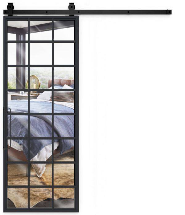 Conservatory Mirror Barn Door