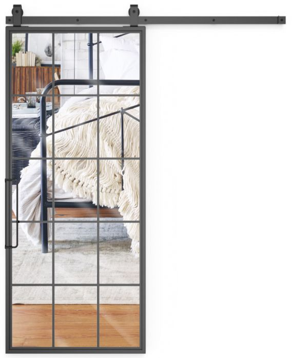 Mountain French Full Mirror Barn Door