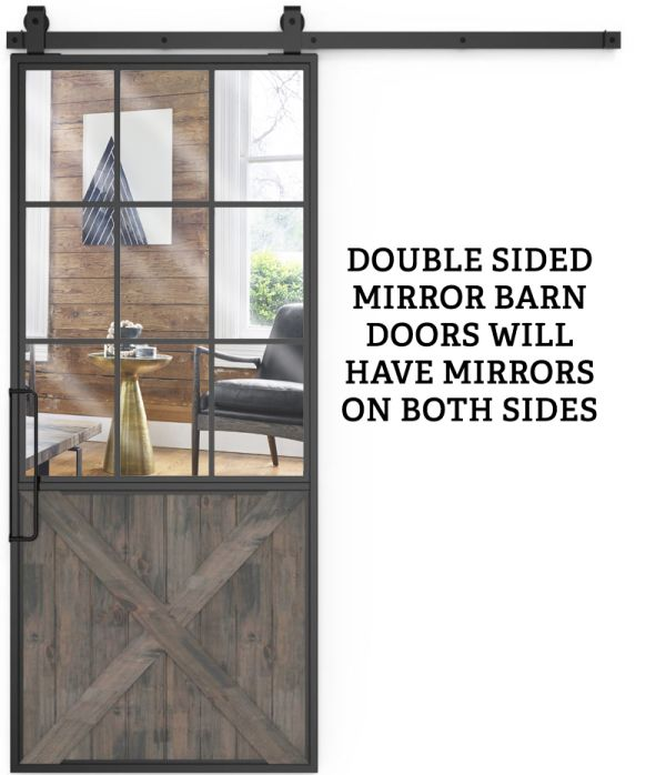 Mountain French Half X Double Mirror
